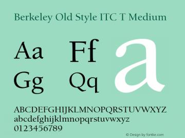 Berkeley Old Style ITC T