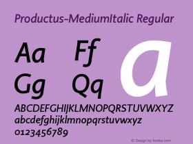 Productus-MediumItalic