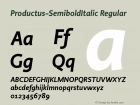 Productus-SemiboldItalic