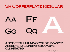 Sh Copperplate