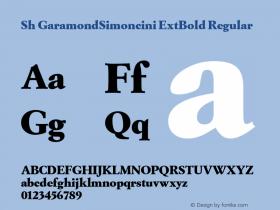 Sh GaramondSimoncini ExtBold