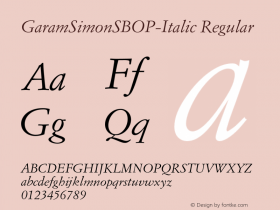 GaramSimonSBOP-Italic