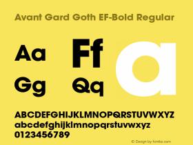 Avant Gard Goth EF-Bold
