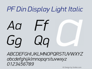 PF Din Display Light