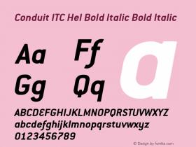 Conduit ITC Hel Bold Italic