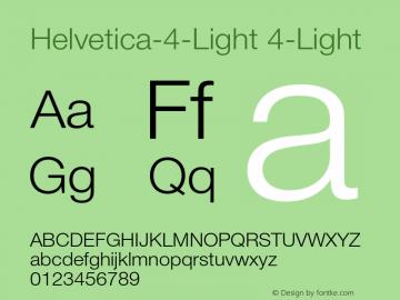 helvetica 4 light font
