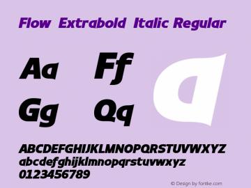 Flow-Extrabold-Italic