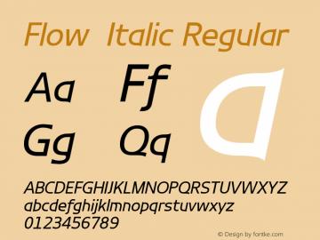 Flow-Italic
