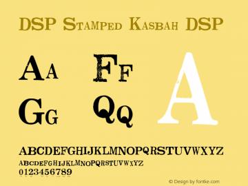 DSP Stamped Kasbah