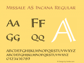 Missale AS Incana