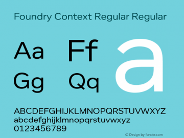 Foundry Context Regular