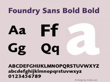 Foundry Sans Bold