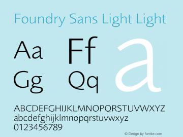 Foundry Sans Light