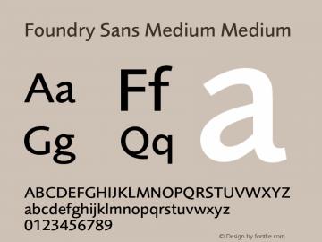 Foundry Sans Medium