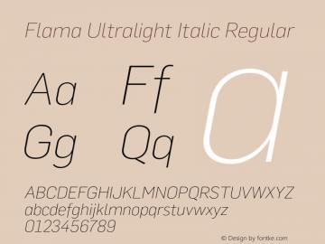 Flama Ultralight Italic