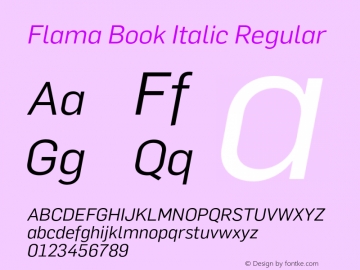 Flama Book Italic