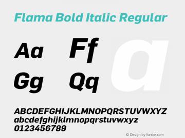 Flama Bold Italic