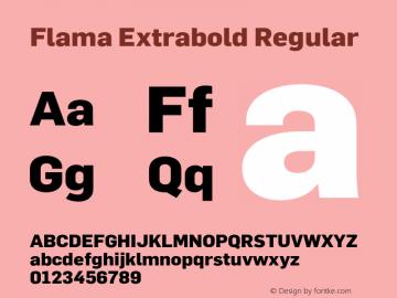 Flama Extrabold