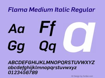 Flama Medium Italic