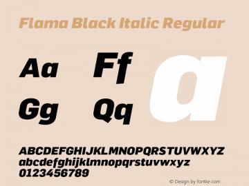 Flama Black Italic