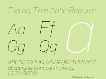 Flama Thin Italic