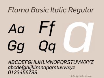 Flama Basic Italic