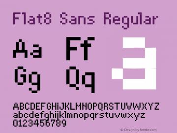Flat8 Sans