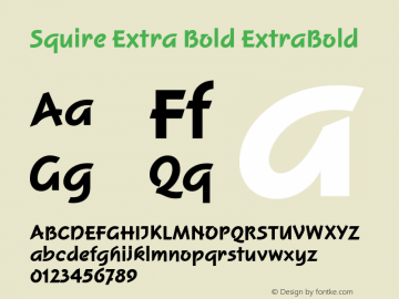 Squire Extra Bold