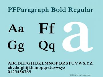 PFParagraph Bold