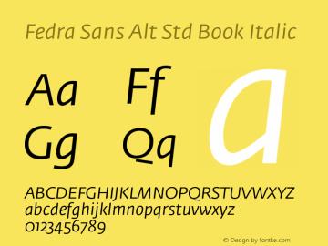 Fedra Sans Alt Std Book