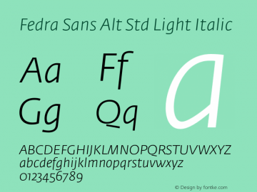 Fedra Sans Alt Std Light