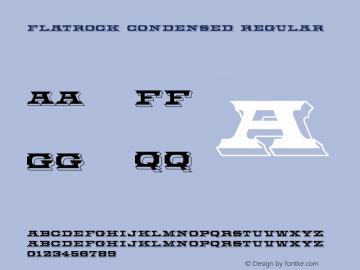 Flatrock Condensed