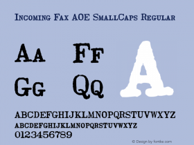 Incoming Fax AOE SmallCaps