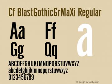 Cf BlastGothicGrMaXi