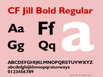 CF Jill Bold