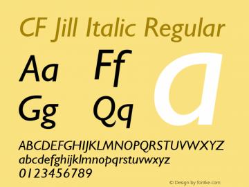 CF Jill Italic