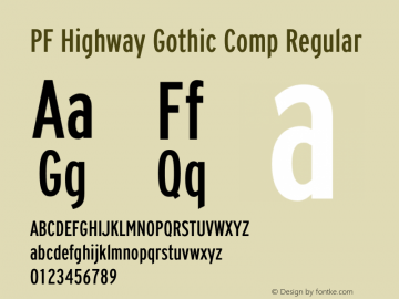 PF Highway Gothic Comp