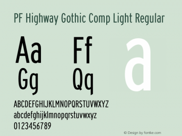 PF Highway Gothic Comp Light