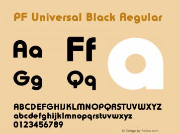 PF Universal Black