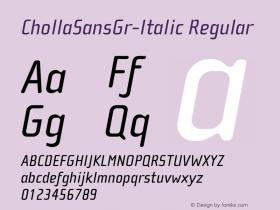 ChollaSansGr-Italic