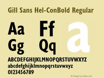 Gill Sans Hel-ConBold