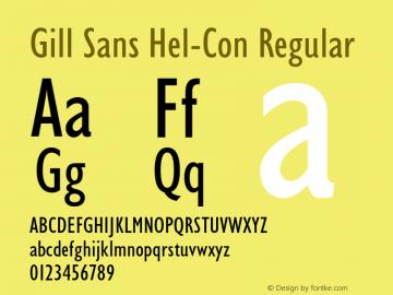 Gill Sans Hel-Con