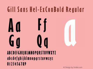 Gill Sans Hel-ExConBold