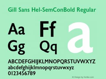 Gill Sans Hel-SemConBold