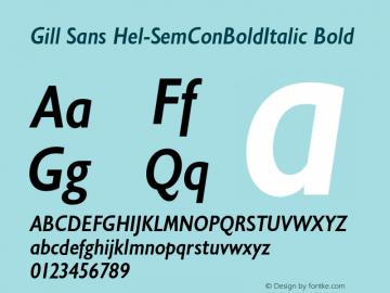 Gill Sans Hel-SemConBoldItalic