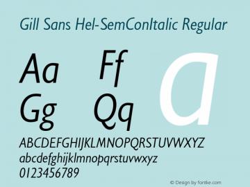 Gill Sans Hel-SemConItalic