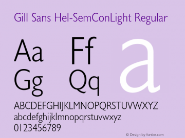 Gill Sans Hel-SemConLight
