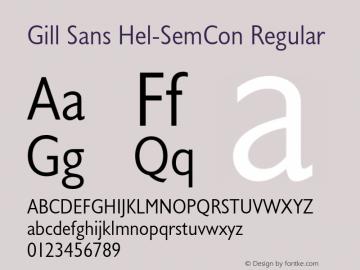 Gill Sans Hel-SemCon