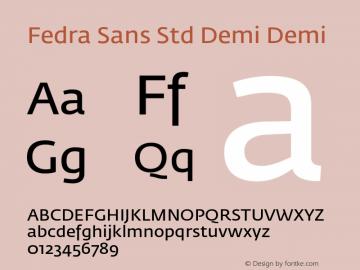 Fedra Sans Std Demi