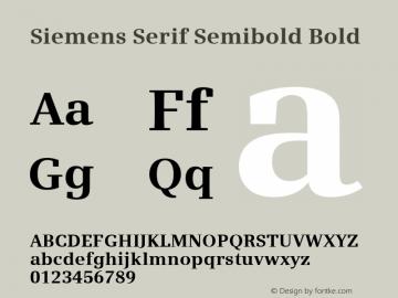 Siemens Serif Semibold